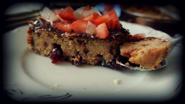 Blondies fasolowe- fit ciasto proteinowe.