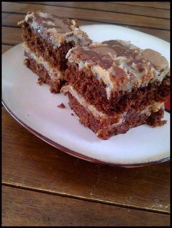 Niemieckie ciasto czekoladowe.