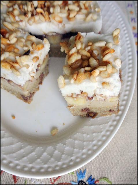 """Ciasto """"Rajski bananowiec""""- wegański, bez glutenu"""