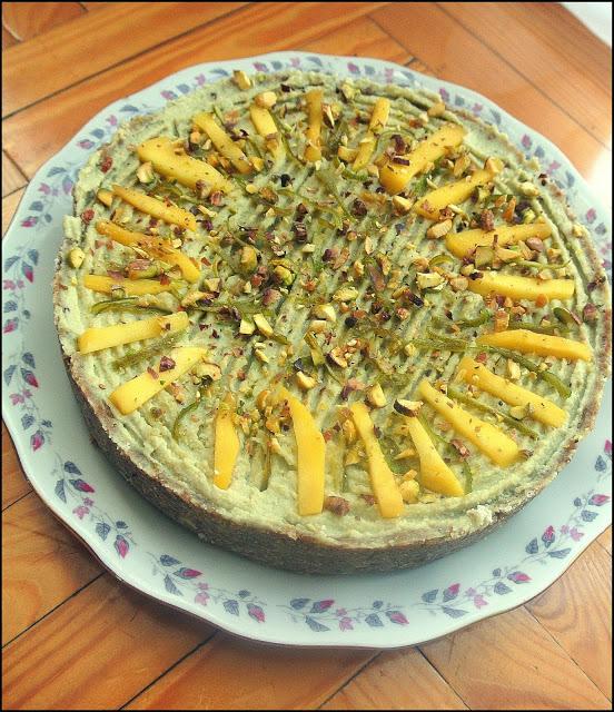 Tarta limonkowa z nerkowców – wegańska, low carb