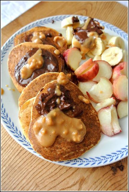 Pancakes migdałowo-kokosowe (vegan)